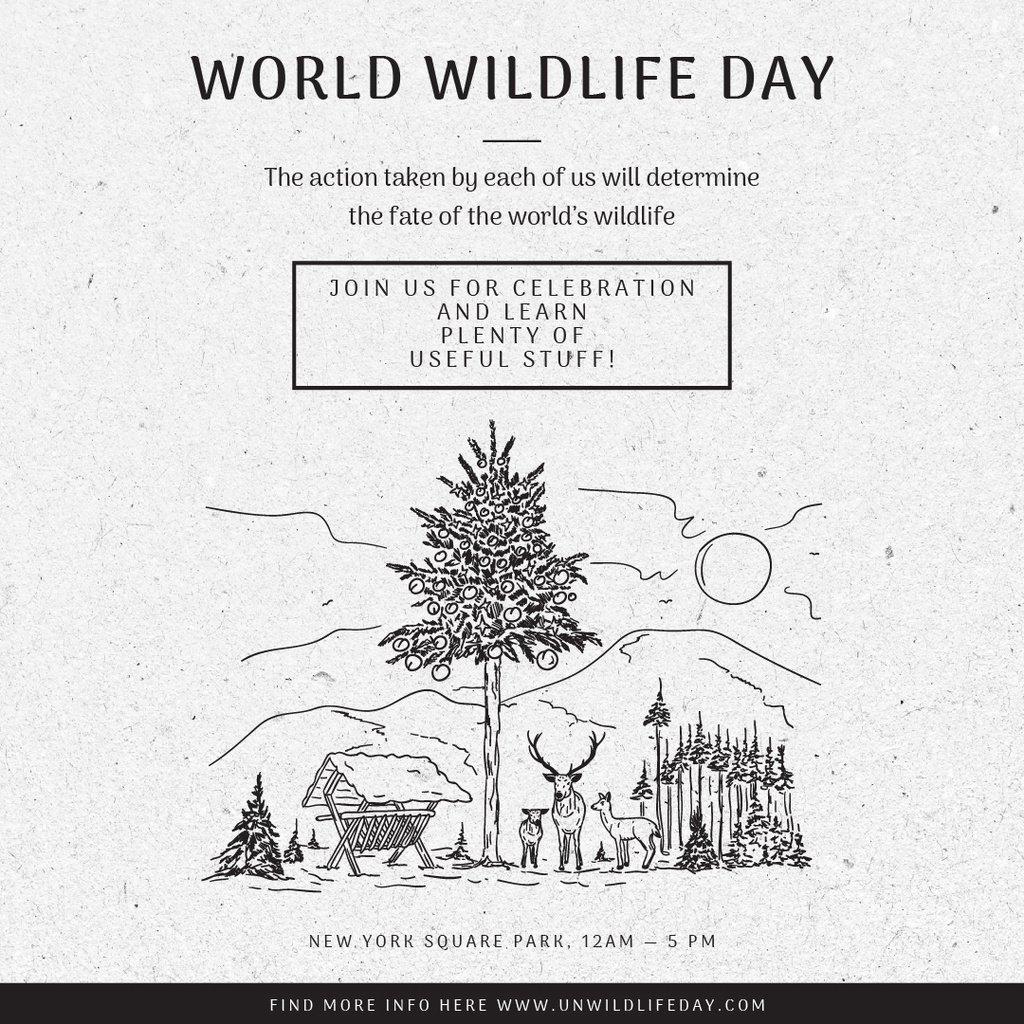 World wildlife day — Create a Design