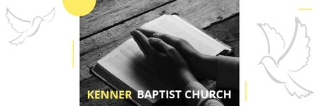 Template di design Baptist Church Invitation with Prayer Email header