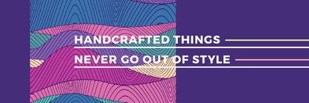 Citation about Handcrafted things Email header Modelo de Design