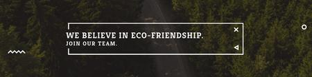 Template di design Eco-friendship concept Twitter