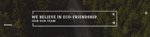 Eco-friendship concept Twitterデザインテンプレート