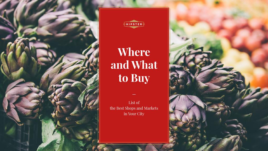Best shops and markets — Créer un visuel