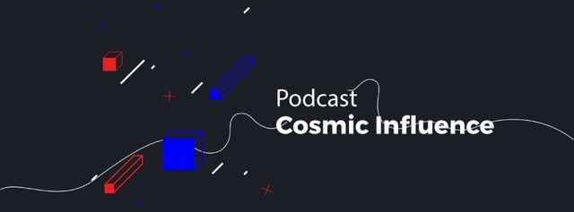 Designvorlage Podcast Ad moving Geometric figures für Facebook Video cover