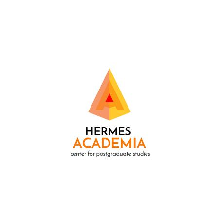 Academia Education with Pyramid in Yellow Logo Tasarım Şablonu