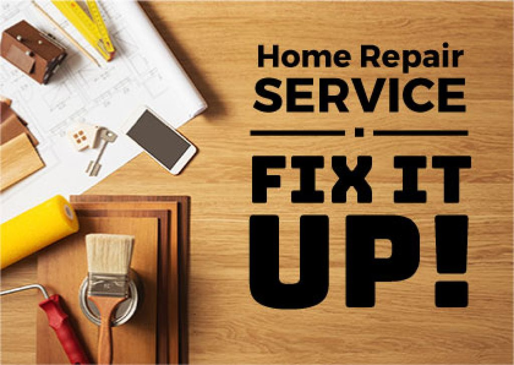 home repair service banner — Створити дизайн