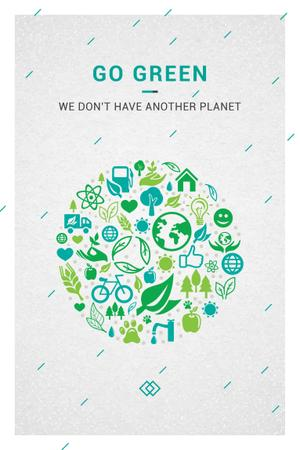 Citation about green planet Pinterest Tasarım Şablonu