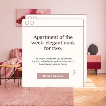 Apartment in Pink tones