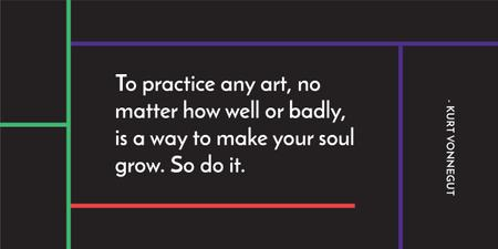 Citation about practice to any art Image – шаблон для дизайна
