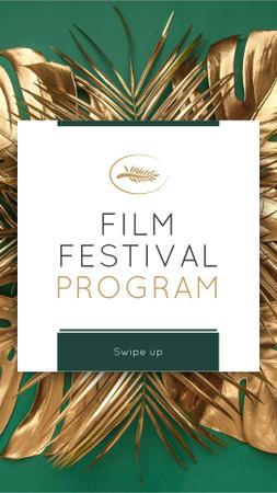 Film Festival golden palm Instagram Story – шаблон для дизайну