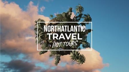 Modèle de visuel Travel Tour Offer Rotating Globe with Palms - Full HD video
