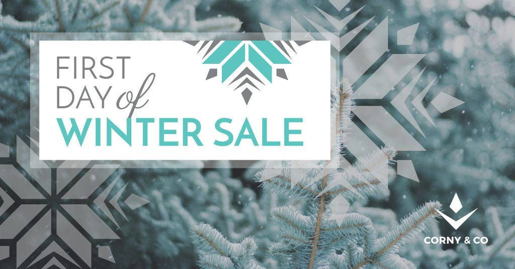 first day of winter sale poster — Maak een ontwerp
