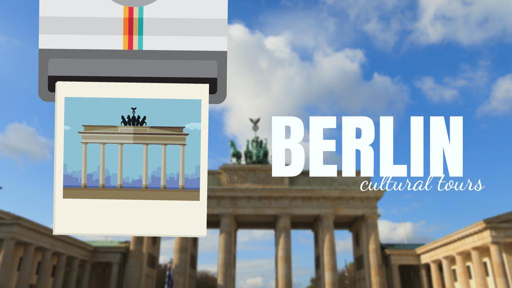 Tour Invitation with Berlin City Spots — ein Design erstellen