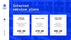 Internet Services Ad with Man with Laptop by Servers