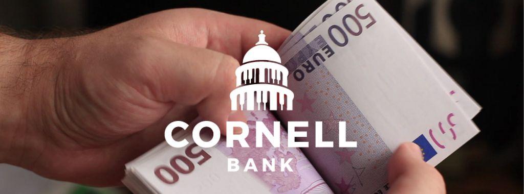 Man counting euro banknotes — Создать дизайн