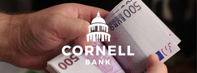 Designvorlage Man counting euro banknotes für Facebook Video cover