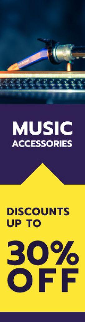 Music store sale banner — Créer un visuel