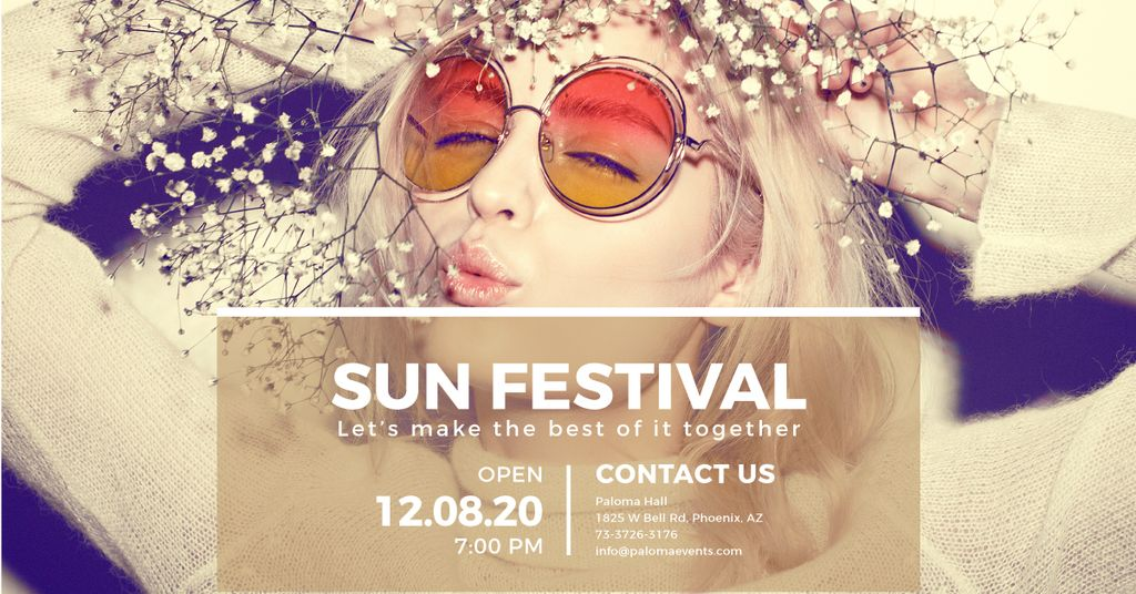 Sun festival advertisement banner — ein Design erstellen