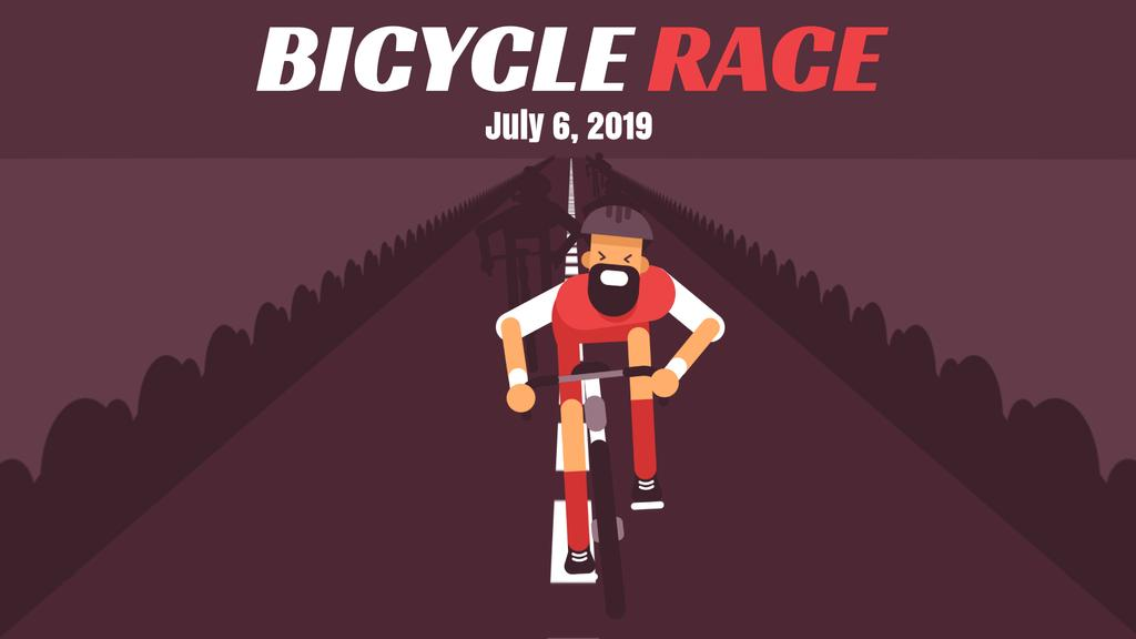 Bicycle Race Announcement Cyclist on Road | Full Hd Video Template — Crear un diseño