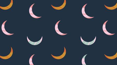 Plantilla de diseño de Colorful Moons pattern Zoom Background