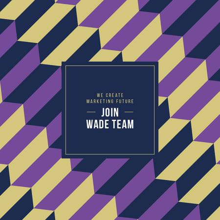 Job offer on geometric pattern Instagram AD Modelo de Design