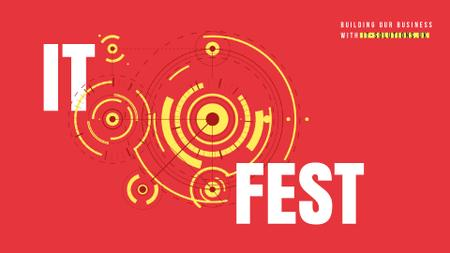 IT Fest Announcement Circles Mechanism Full HD video Modelo de Design