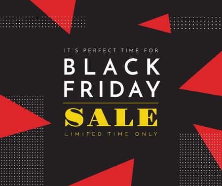 Black Friday sale on geometric pattern Facebook Tasarım Şablonu