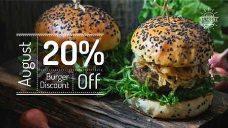 Ontwerpsjabloon van FB event cover van Delicious Burgers Special Offer