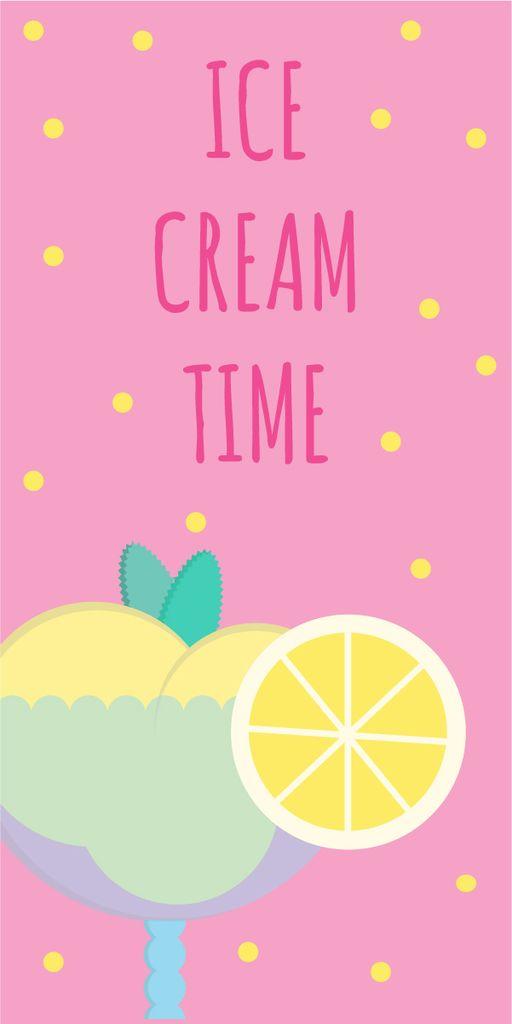 Ice cream banner — Modelo de projeto