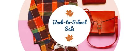 Back to School Uniform Offer Facebook coverデザインテンプレート