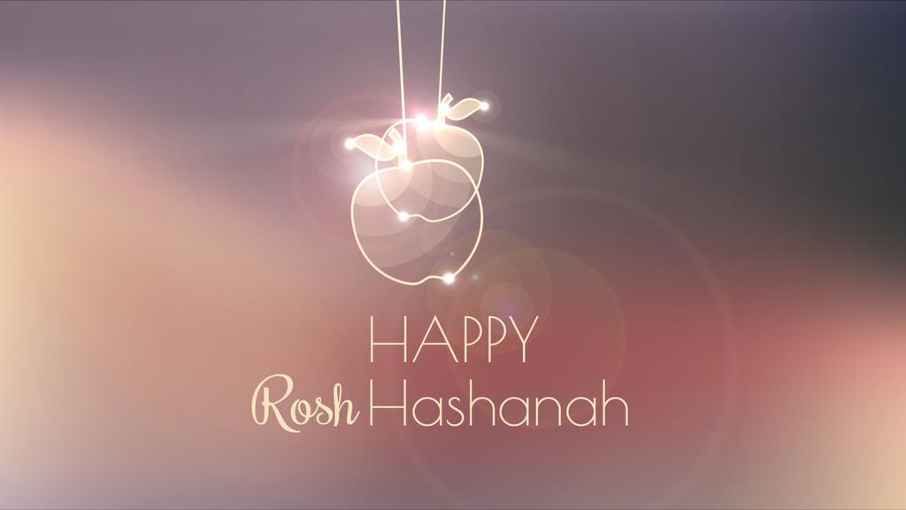Rosh Hashanah garland with apples — Crea un design