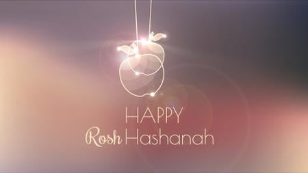 Plantilla de diseño de Rosh Hashanah garland with apples Full HD video