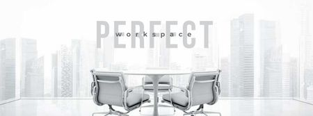 Modèle de visuel Perfect Workplace with Light Office View - Facebook cover