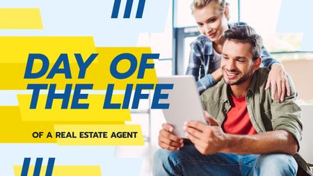 Plantilla de diseño de Real Estate Agents Working with Tablet Youtube Thumbnail