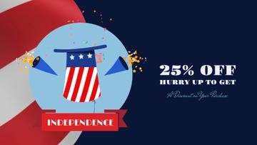 Independence Day Sale Hat and Fireworks | Full HD Video Template