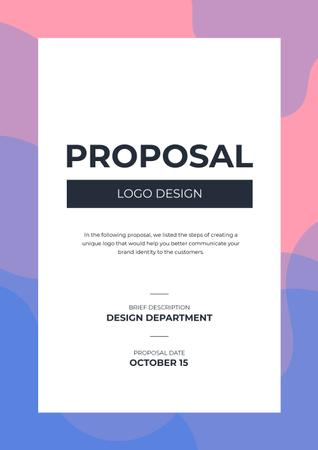 Design studio offer on abstract Painting Proposal – шаблон для дизайну