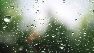 Falling Rain drops