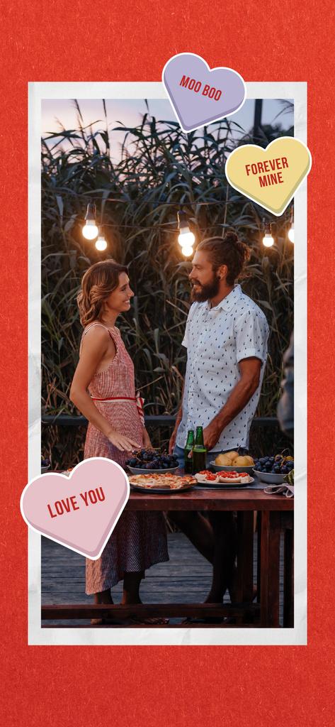 Romantic Couple sharing dinner — Створити дизайн