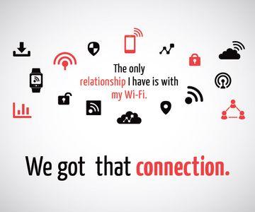 Wi-fi connection poster