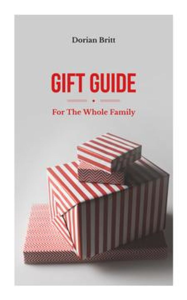 Szablon projektu Gift Guide Red Present Boxes Book Cover