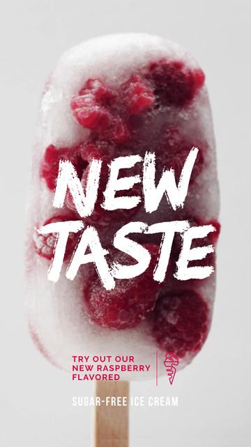 Plantilla de diseño de Popsicle with Raspberries Offer Instagram Video Story