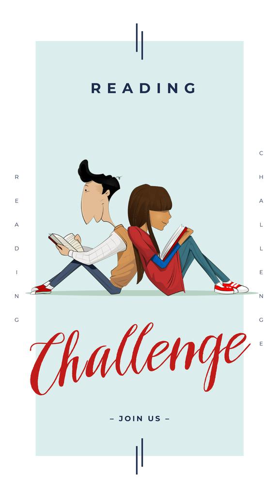 Students reading books — Create a Design