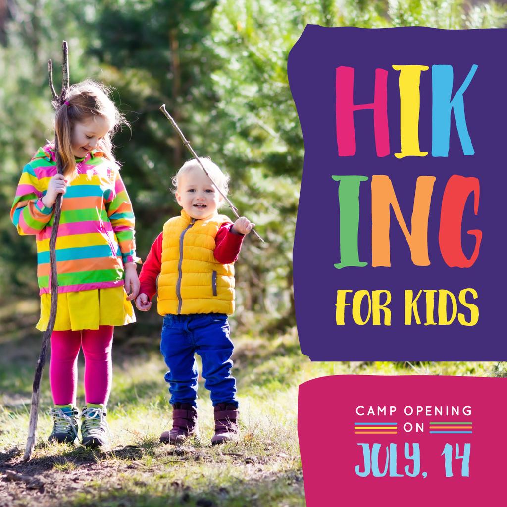 Happy Girls Walking Outdoors Hiking — Создать дизайн
