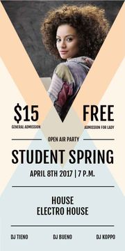 advertisement poster of open air student party