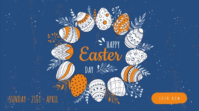 Ontwerpsjabloon van Full HD video van Colored Easter eggs
