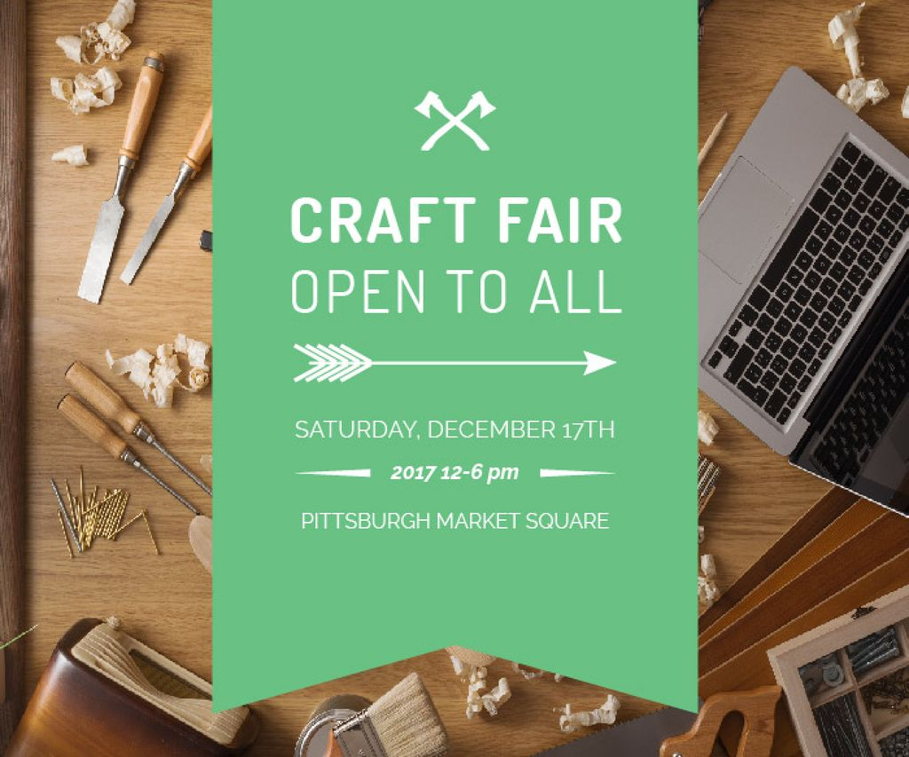 Craft Fair Announcement Wooden Toy and Tools — Crear un diseño