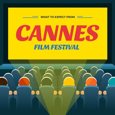 Cannes Film Festival Announcement Instagramデザインテンプレート