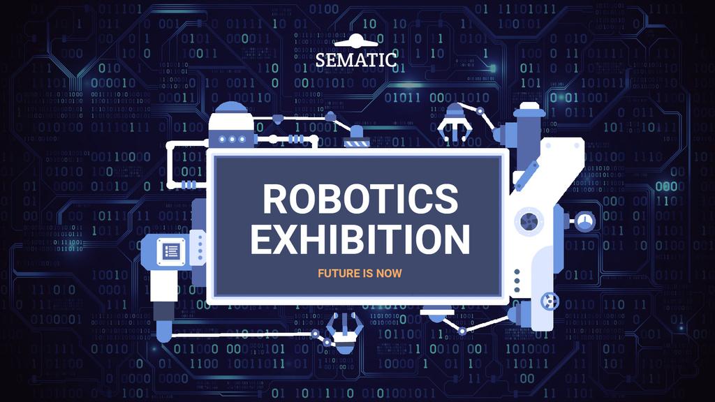 Robotics Event Invitation Production Line Frame — Crear un diseño