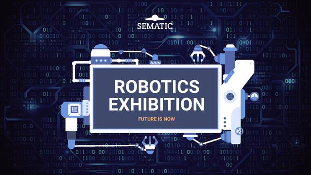 Robotics Event Invitation Production Line Frame Full HD video – шаблон для дизайна