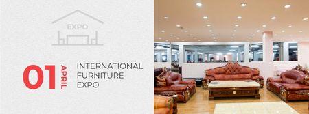 Plantilla de diseño de Interior Design Event with Vintage Furniture Facebook cover