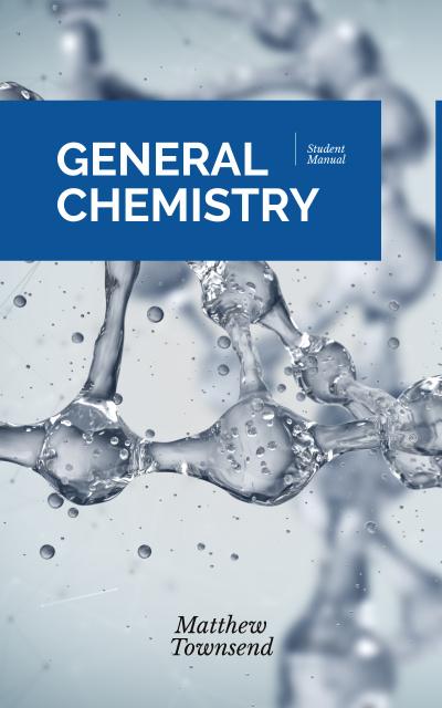 Ontwerpsjabloon van Book Cover van Chemical molecule model
